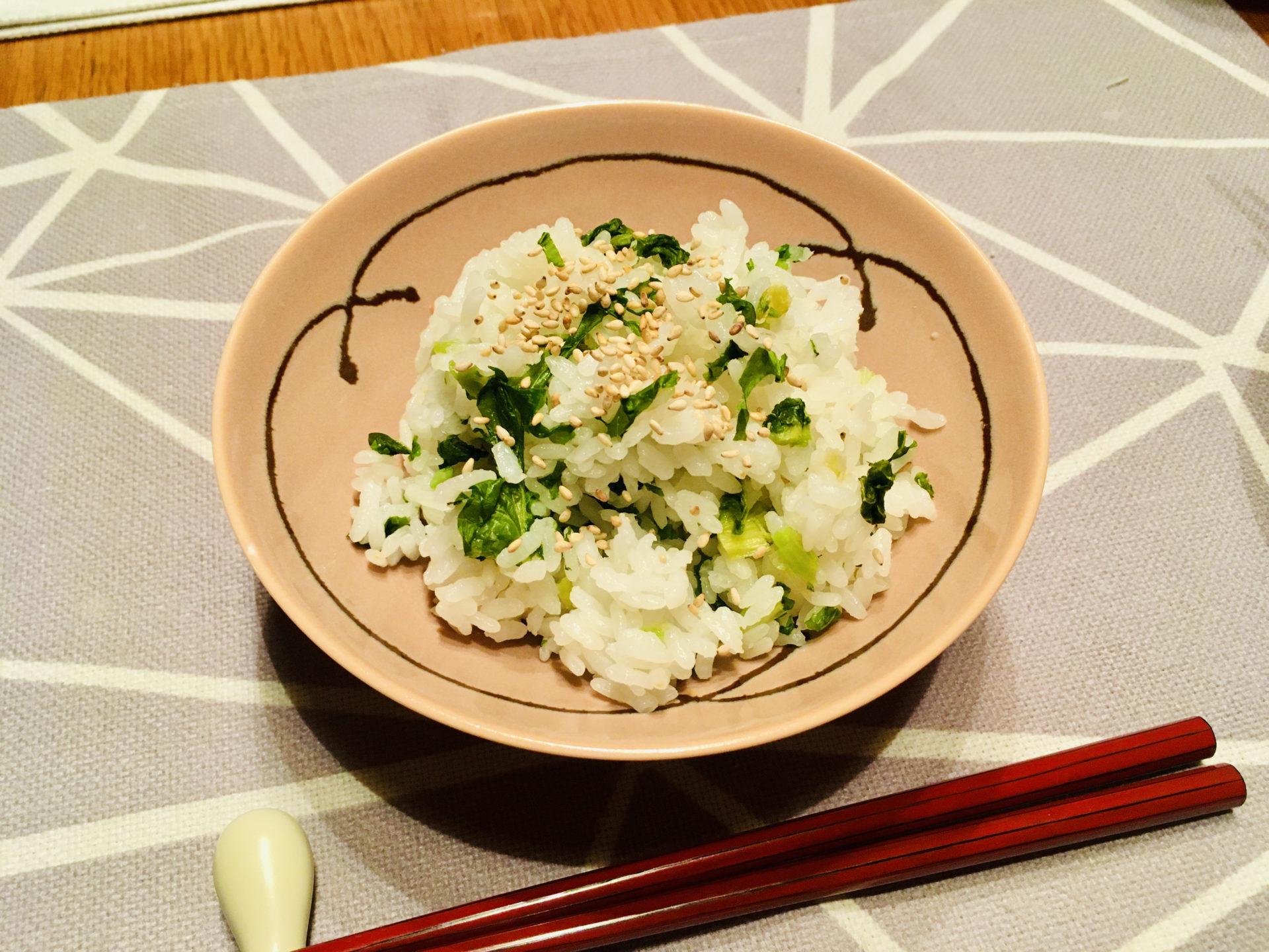 干し大根葉の菜飯